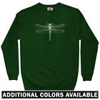 Dragonfly Men's Sweatshirt - Crewneck S-3X - Insect Bug Anisoptera Entomology