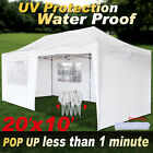 EZ POP UP Wedding Party Tent Folding Gazebo Beach Camping Canopy W/Carry Bag