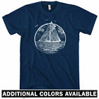 Vintage Sailboat T-shirt - Men S-4X - Gift Sailing Boat Sails Ocean Sea Marina