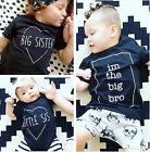 Family Day Clothes Baby Boys Girls Kids Summer Brother Sister T-shirt Tops SALE