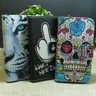 Skull Tiger Nice Day Wallet Pouch Stander flip case cover for HTC Phone