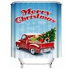 Christams Pattern Polyester Water-Repellent Shower Curtain, Iusun Resistant Bath