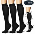 Compression Socks Support Stockings Mens Womens Plantar Graduated mmHg (3 Pairs)