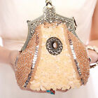 Ladies' Beads Sequin Handbag Clutch Party Bridal Evening Prom Purse Makeup Bag