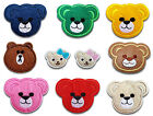Baby Teddy Bear Face Iron / Sew On Patch Applique Motif *buy1 get1 half price*