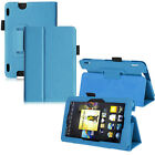 For Amazon Kindle Fire HDX 7 Inch Ultra Slim PU Leather Folio Stand Cover Case