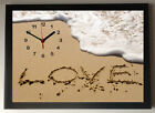 Love in the Sand A4 Picture Clock