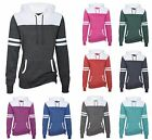 LADIES MID-WEIGHT VARSITY, CHEER, RALLY FLEECE HOODIE, PULLOVER, STRIPES XS-4XL