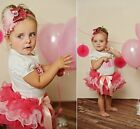 Baby Girl First Birthday Party Princess Top+Tutu Dress Outfit Skirt Set Size 123