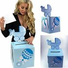 Baby Shower Girl Boy Wishing Well Card Box Decoration Keepsake Carriage Rattle