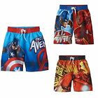 NWT Boys Character Swim Trunk Swimsuit Marvel Avengers Capt America Iron Man 4/5