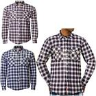 Mens Tokyo Laundry Quilt Lined Check Padded Shirt Long Sleeve Lumberjack Top