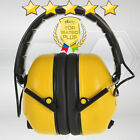 Yellow Folding Ear Defenders Protection Padded Head Band Builders Construction
