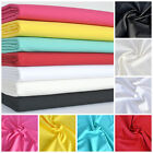 "PER HALF METRE Premium Polycotton Plain Fabric 7 colours 44"" Wide"
