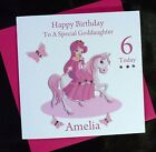 PERSONALISED Handmade Birthday Card PRINCESS and HORSE  4th 5th 6th 7th  (2505)