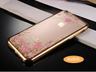 Ultra Thin Transparent Diamond Soft TPU case For iPhone 6 Plus  -Little Flower