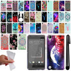 For HTC Desire 530 630 Art Design TPU Soft SILICONE Rubber Case Cover + Pen