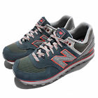 New Balance ML574OIA D Navy Green Red Suede Mens Retro Running Shoes ML574OIAD