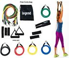 Resistance Bands SET11 PC Set Tubes  Gym Workout  Exercise  Stretch Yoga Pilates