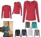 LADIES RELAXED FIT, LONG SLEEVE, PRESHRUNK, ECO TRI BLEND, PULLOVER TOP, S-XL