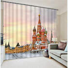 Saint Basil Cathedral Moscow Rus 3D Blockout Photo Printing Curtains Drap Fabric