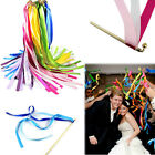 10PCS Wedding Ribbon Stick Wand Twirling Streamers With Bell Garland Party Decor