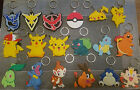 Pokemon Pikachu Go Mew Keychains Anime 1x Keyring Double Sided PVC - UK Seller!