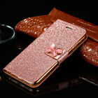 Glitter Luxury Magnetic Flip Bling Leather Case Cover For Apple iPhone Models