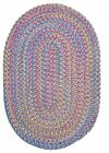 Tropical Garden Oval Braided Rug, Amethyst ~ Made in USA