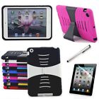 Hybrid Hard Rubberized Cover Case + Screen Protector Stand For Ipad Mini 1 2 3