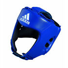 ADIDAS AIBA APPROVED AMATUER BOXING HEAD GEAR GUARD RED BLUE