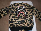 Authentic A Bathing APE BAPE 1ST CAMO SHARK MA-1 BOMBER JACKET YELLOW L XL NEW