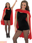 Adults Superhero Cape Mens Ladies Blue Red Fancy Dress Accessory Book Week