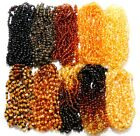 Wholesale Lot of 10 Genuine Raw Baltic Amber Beads Baby Child Necklaces 4 Colors