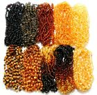 Baltic Amber Necklaces Wholesale Lot 10 Colors Raw Polished Genuine Beads