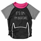 NEW Batgirl Short Sleeve Rash Vest Kids