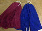 Super Soft Chunky Knit Bubble Scarf Blue or Pink  Warm Winter Scarf