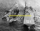 USN USS Randolph CVS-15 CV-15  Black n White Photo Military USS Waller DDE-466