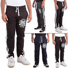 New Mens Tracksuit Fleece Fabric Gym Jogging Printed  Bottom Size S XL XXL