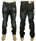 ETO MENS LATEST STRAIGHT LEG JEANS EM512 CASUAL IN DARK WASH COLOUR RRP £44.99