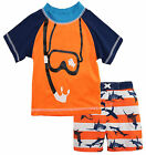 iXtreme Little Boys' Snorkel with Sharks Rash Guard Swim Short Set