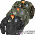 Boys/Kids MA1 US Air Force Aviator Flight Jacket Army Military Bomber Patches