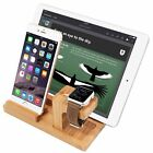 Wood Charging Dock Station Mount Holder for Apple Watch iWatch iPhone SE i Pad 4