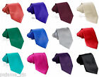NEW MEN'S SOLID COLORS SELF TIE NECK TIE FORMAL PARTY WEDDING PROM Ties