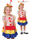 Toddler Girls Clown Costume Book Week Day Age 2-3 Circus Fancy Dress Up Outfit