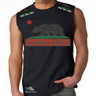 California Republic Cali For Life Los Angeles LA Sleeveless Muscle Tank Shirt t