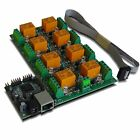 Eight(8) Channel Relay Module Board for Home Automation - LAN, Ethernet, IP, WEB