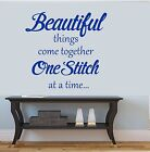 Sewing Room Vinyl Wall Sticker,  Quote, Craft ,Dressmaker, Hobby room