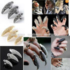Fashion Retro Rock Rhinestone Fake Claw Talon Nail Finger Ring Gothic Cool Gift