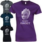 Baby Groot Ladies Fitted T-Shirt - I Am Cute Guardians of the Galaxy Rocket Gift